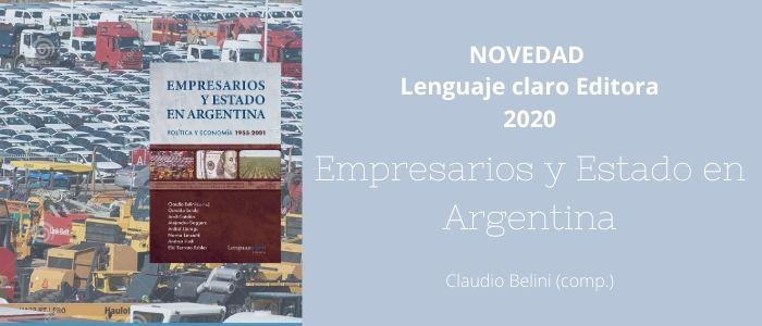 Novedad Empresarios y Estado en Argentina